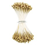 Gold Medium Round Pearl Stamens