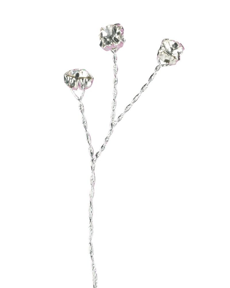 Silver Colour Diamante Branch