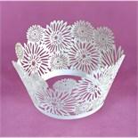 Lace Dahlia White Cupcake Wraps
