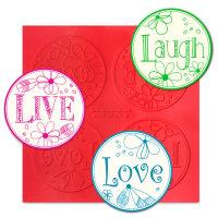 Live, Love, Laugh ChocArt Disc Silicon Mat