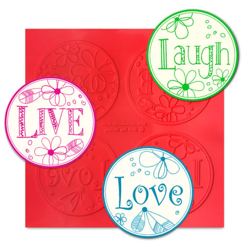 Live, Love, Laugh ChocArt Disc Silicon Mat