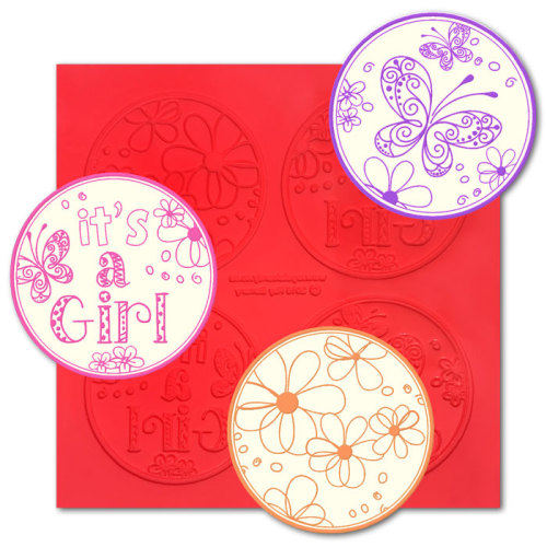 Its a Girl ChocArt Disc Silicon Mat