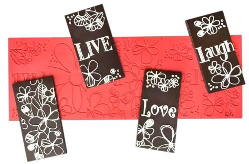 Live, Love, Laugh ChocArt Panel Silicon Mat