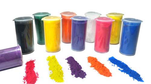 So Intense Coloured Powders