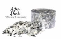 Crystal Candy: AFTER DARK silver edible sugarcraft flakes 6g