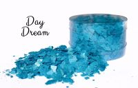 Crystal Candy: DAY DREAM blue pearl edible sugarcraft flakes 6g