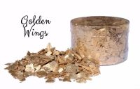Crystal Candy: GOLDEN WINGS edible sugarcraft flakes 6g