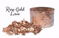 Crystal Candy: ROSE GOLD LOVE edible sugarcraft flakes 6g