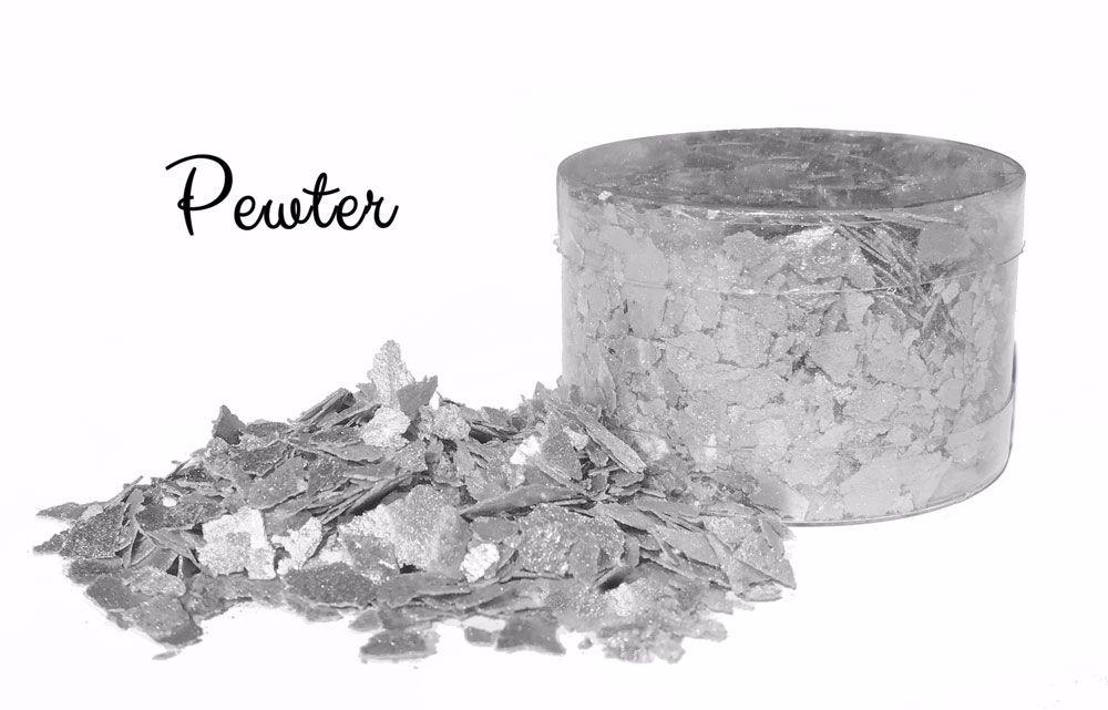 Crystal Candy: SILVER MOON edible sugarcraft flakes 6g