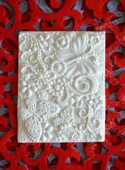 Bas-Relief Food Grade Silicon Mould: Tranquil Garden