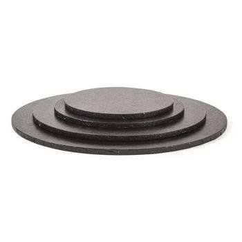 Decora BLACK ROUND CAKE BOARD Ø 25 X H 1,2 CM, 5 units @ £1.85 per unit.