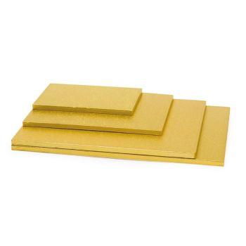 Decora GOLD OBLONG CAKEBOARD CM 20X30X1,2 H, 5 units @ £3.06 per unit.
