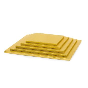 Decora GOLD SQUARE CAKEBOARD CM 20X1,2 H, 5 units @ £1.43 per unit.