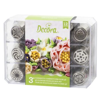 12 DECORA DIRECT FLOWERS NOZZLES BOX SET - NR. 3, 2 units @ £17.85 per unit