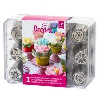12 DECORA DIRECT FLOWERS NOZZLES BOX SET - NR. 1, 2 units @ £17.85 per unit.