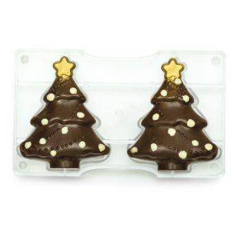 CHRISTMAS TREE POLYCARBONATE MOLD 121 X 150 MM 275 X 175 X 22 MM, 6 units @ £9.40 per unit