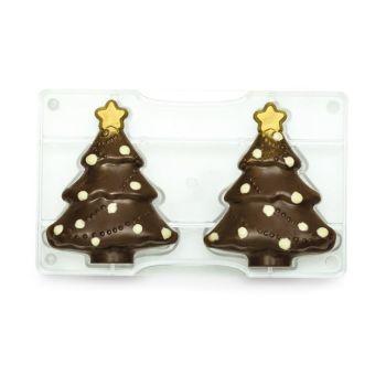CHRISTMAS TREE POLYCARBONATE MOLD 85 X 105 MM 200 X 120 X 22 MM, , 6 units @ £6.38 per unit.