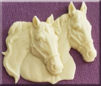 Horses Head (Pair) By Alphabet Moulds