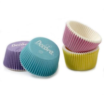 75 BAKING CUPS MIXED PASTEL COLOURS 50 X 32 MM, 12 units @ £2.04 per unit