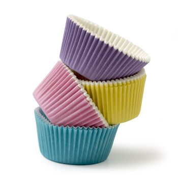 200 BAKING CUPS MIXED PASTEL COLOURS 32 X 22 MM, 12 units @ £3.19 per unit