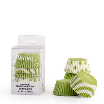 75 APPLE GREEN FANTASY BAKING CUPS 50 X 32 MM, 12 unit @ £2.04 per unit