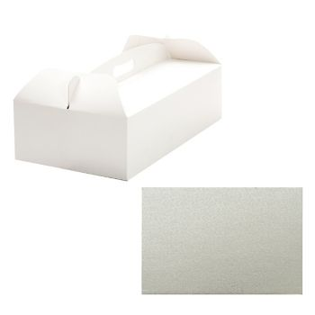 Decora BOX W/HANDLE 31 X 16 X 12 H CM C/CAKE BOARD CM 31X16X H 3 MM, 10 units @ £2.01 per unit.