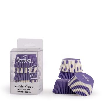 75 LILAC FANTASY BAKING CUPS 50 X 32 MM, 12 units @ £2.04 per unit