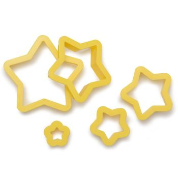 Decora 5 STAR COOKIE CUTTERS 2,2 3,9 5,6 8,19,9 H 2,2 CM, 6 units @ £4.14 per unit.