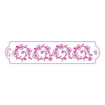 Decora STENCIL FLOWER PATTERN 7X30CM, 3 units @ £2.23 per unit.
