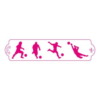 Decora STENCIL FOOTBALL 7X30CM, 3 units @ £2.23 per unit.