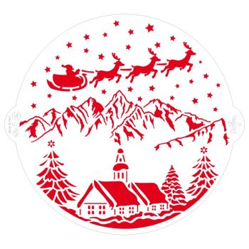Decora STENCIL CHRISTMAS LANDSCAPE Ø 25 CM, 3 units @ £3.12 per unit.