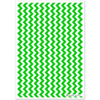 Patterned Paper(A4) - Chevron - Lime Green. Pack of 6.