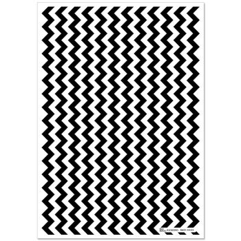 Patterned Paper(A4) - Chevron - Black. Pack of 6.