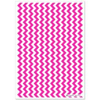 Patterned Paper(A4) - Chevron - Cerise Pink. Pack of 6.