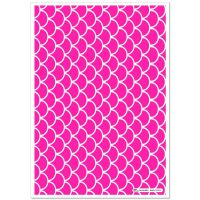 Patterned Paper(A4) - Fish Scales - Cerise Pink