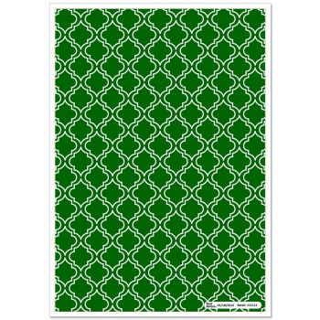 Patterned Paper(A4) - Moroccan - Dark Green