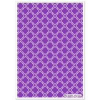Patterned Paper(A4) - Moroccan - Purple