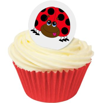 Ladybird Edible Wafer Toppers (Round) 38mm