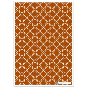Patterned Paper(A4) - Moroccan - Brown. Pack of 6