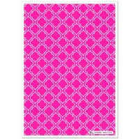 Patterned Paper(A4) - Moroccan - Cerise Pink. Pack of 6