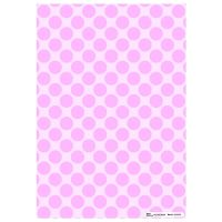 Patterned Paper(A4) - Large Polka Dots - Baby Pink. Pack of 6