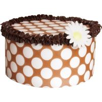 Patterned Paper(A4) - Large White Polka Dots - Brown. Pack of 6