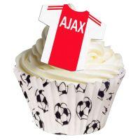 Ajax Football Cupcake Toppers