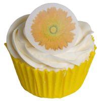 Round Orange Gerbera Cake Toppers