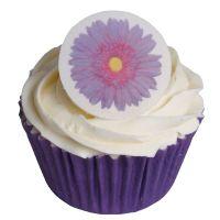 Round Purple Gerbera Cake Toppers