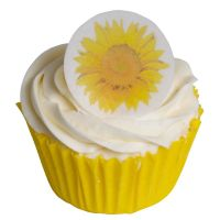 Round Sunflower Cake Toppers