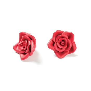 56 SUGAR DECORATION SMALL ROSE RED