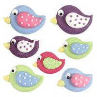 Birds 4,5 x 3 - 3,5 x 2 - 2 x 1,5 cm, 100 Pieces Per Box.