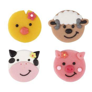 Animal heads flat 3,5 cm, 40 Piece Per Box