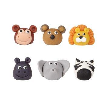 Animal head 3 cm, 42 Pieces Per Box